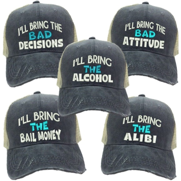 ca8bfe37e6 Custom Funny Party Trucker Hats Ball Caps Unisex